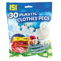 151 PLASTIC CLOTHES PEGS COLURED EACH