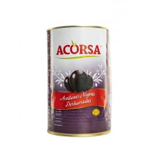 ACORSA BLACK OLIVES PITTED BOX