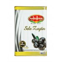 AYDOGMUS BLACK OLIVES LOW SALT SELE 381-460 EACH