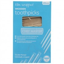 BIRCHWOOD  FILM WRAPPED WOODEN TOOTHPICKS 0351FILM EACH
