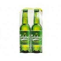 CARLSBERG LAGER BEER ( PM 4 BOTTLE £4.00) PACK