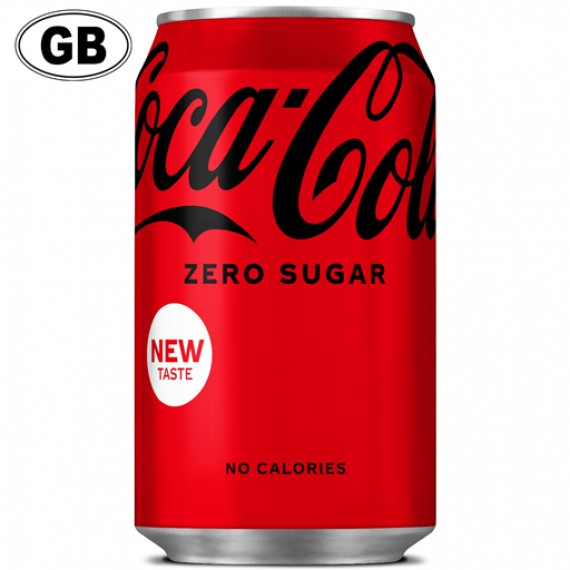 COCA COLA ZERO CAN GB BOX