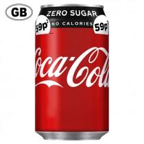 COCA COLA ZERO COKE CAN GB PM £0.59 BOX