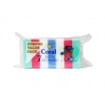 CORAL BATH SPONGE 7PK  BOX
