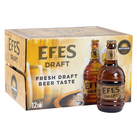 EFES DRAFT BEER GLASS BOTTLE BOX