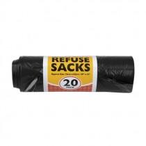 ESSENTIAL HD REFUSE BLACK SACKS 20's BOX