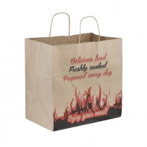EXTRA BROWN PRINTED TWISTED PAPER BAG LARGE (32X32X21) BOX