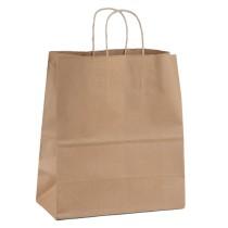EXTRA JUMBO BROWN PLAIN PAPER BAG(32X32X21) BOX