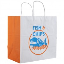 EXTRA WHITE JUMBO TWISTED FISH&CHIPS PAPER BAG(32X32X21) BOX