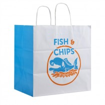 EXTRA LARGE TWISTED FISH&CHIPS PAPER BAG(28X30X16) BOX