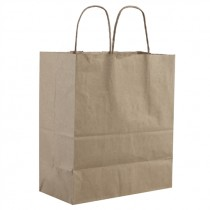 EXTRA LARGE TWISTED PLAIN BROWN PAPER BAG(25X30X14) BOX
