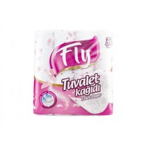 FLY WHITE TOILET ROLLS PINK EACH