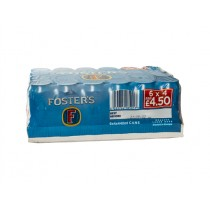 FOSTER FOSTERS LAGER CAN 4 FOR £4.50 BOX