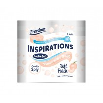 FREEDOM PEACH TOILET ROLLS 2PLY (F01B) BOX