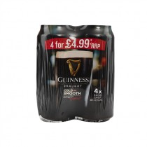 GUINNESS DRAUGHT CANS PM 4 FOR £4.99 PACK