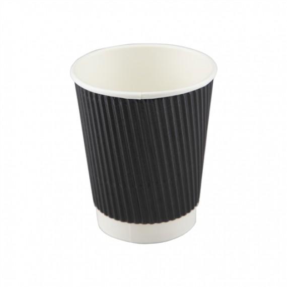 H-PACK RIPPLE CUPS BLACK 8OZ BOX