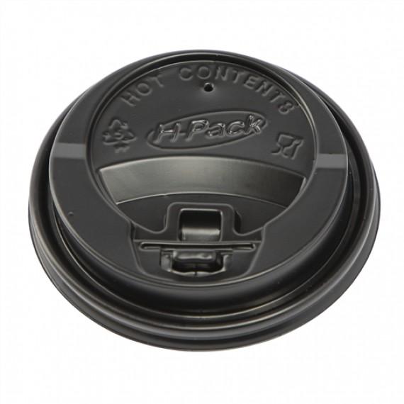 H-PACK LIDS FOR RIPPLE CUPS 8OZ/10OZ (BLACK)  BOX