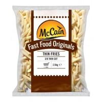 MC CAIN FASTFOOD 3/8 THIN FRIES (41346-8147) BOX