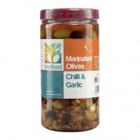 MEDFOOD MARINATED OLIVES CHILLI&GARLIC IN OIL EACH