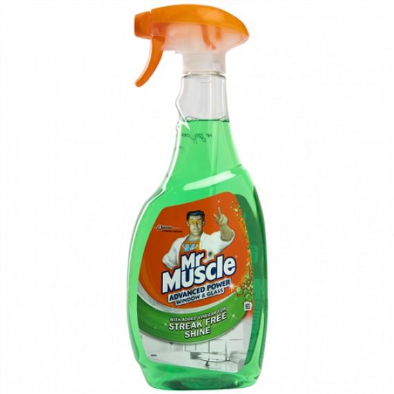 MR MUSCLE WINDOW & GLASS CLEANER SPRAY (GREEN) (MMAW) BOX