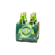 PERRIER SPARKLING WATER GLASS BOTTLES  BOX