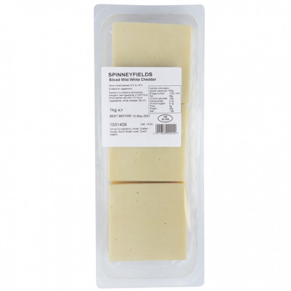 PRIMA CHEESE WHITE CHEDDAR SLICES MILD EACH