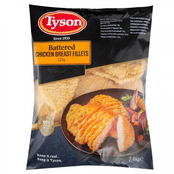 TYSON BATTERED CHICKEN BREAST FILLETS 120G EACH