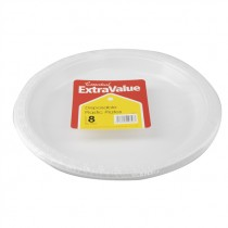 SUPER VALU DISPOSABLE PLASTIC PLATES 26cm EACH