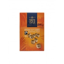 TATE & LYLE CUBES SUGAR BROWN DAMERARA ROUGH CUT BOX