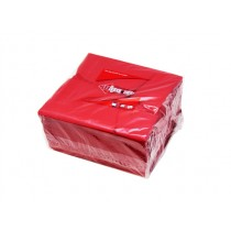 WIPE UP SERVIETTE 2PLY RED 1/4 FOLD (2000) 40X40 BOX