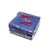 WIPE UP SERVIETTE 2PLY NAVY BLUE 1/4 FOLD (2000) 40X40 BOX